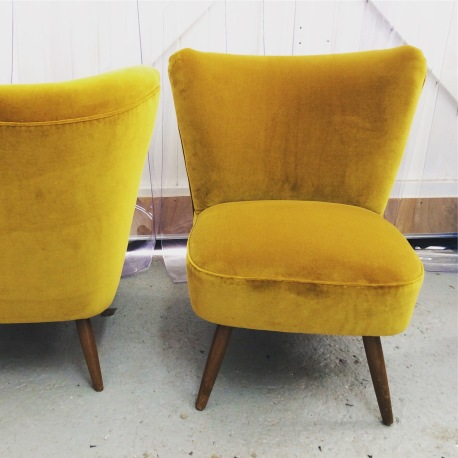 German Cocktail chairs in Designers Guild velvet