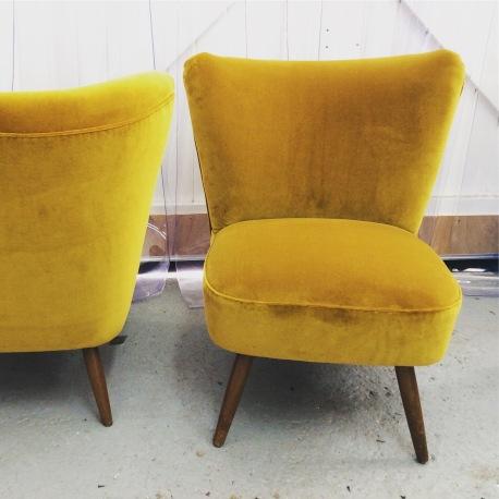 German Cocktail chairs in Designers Guild velvet