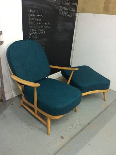 Ercol chair and footstool