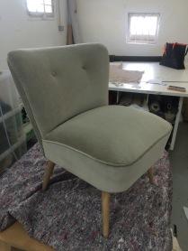 German Cocktail chair in Designers Guild velvet
