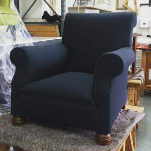 Victorian club chair in Bute Melrose